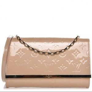Louis Vuitton Ana Monogram Dune Vernis Clutch AUTH